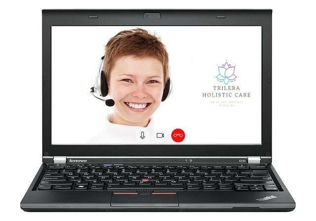 laptop in video conference